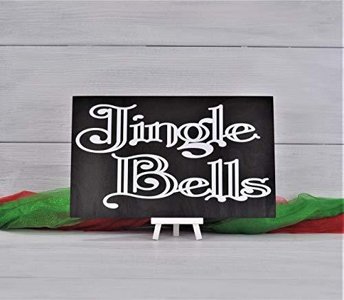 Christmas Decor, Christmas Sign, Jingle Bells, Wood Sign