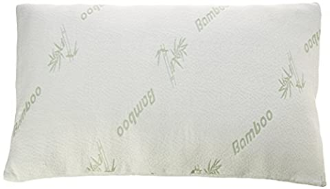 Premium Bamboo King Size Pillow - Deluxe Washable Cover, Removable Case - Hypoallergenic Comfort Pillow Treats Neck & Back Pain - for Health Care & Good Sleep - for Sweet Nights - Size (Return Labels For My Orders)