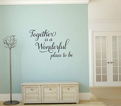 (Waldenn Together is A Wonderful Place to BE Home Vinyl Wall Decal Decor Words Lettering | Model DCR -)