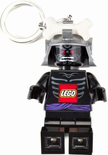Black Lego Ninjago Bone Helmet Ninja Keychain LED Light Torch ()