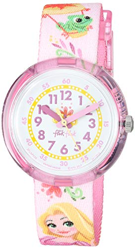 Flik Flak Kids' Spring 2018 Quartz Polyester Strap, Pink, 14 Casual Watch (Model: ZFLNP028)