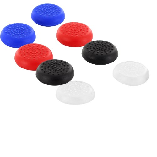 O'plaza® Pack of 4 Color (Blue ,Red ,Black, Clear) Tpu Silicone Rubber Gel Analogue Thumb Grip Stick Caps for Microsoft Xbox One (8 Piece )