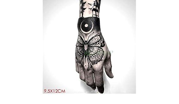 Modeganqing 8 Piezas Impermeable Tatuaje Pegatina Rosa Tatuaje ...