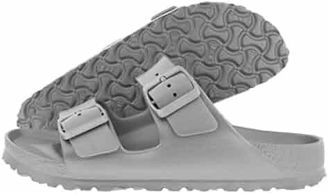 Birkenstock Essentials Unisex Arizona EVA Sandals Metallic Silver 39 N EU (US Women's 8-8.5)