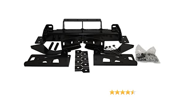 Black WARN 84265 Gen II Trans4Mer Mid-Frame Winch Mount Kit