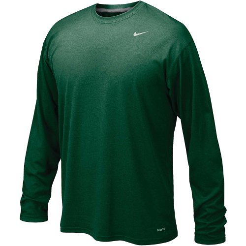 Nike Dk Green Legend Long Sleeve Performance Shirt (Extra Large)