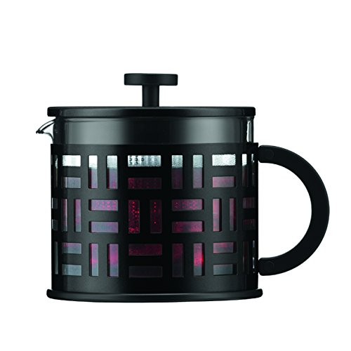 Bodum Eileen Tea Press, French Press, Glass, 1,5 l, Black, 11199-01