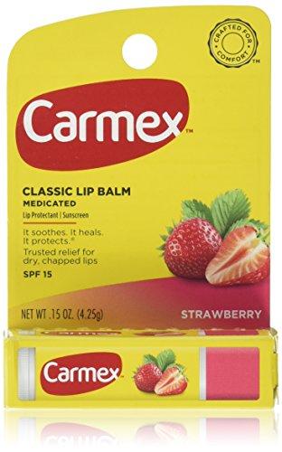 Carmex Click-Stick Moisturizing Lip Balm SPF 15 Strawberry 0.15 oz