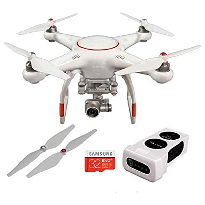 Autel Robotics X-Star Premium Drone with Integrated 4K Camera, Remote Controller Included, White - Bundle With 32GB MicrSDHC Card, Autel Robotics Propellers, Autel Robotics Battery 14.8V