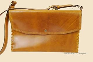 product image for MacPherson Leather Leather Brief Case with Border Tooling