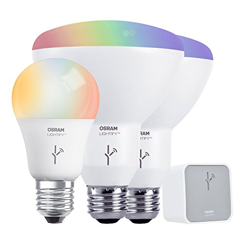 Sylvania Smart Home 73881 Smart Home LED Starter Kit, Adjustable White and Full Color