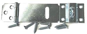 "Zinc Plated Adjustable Hasp - 2-1/2"" - Antique Modern Furniture Drawers Cabinet Doors Chest Box Lids Padlock + Free Bonus (Skeleton Key Badge) DL-C753-212ZP"