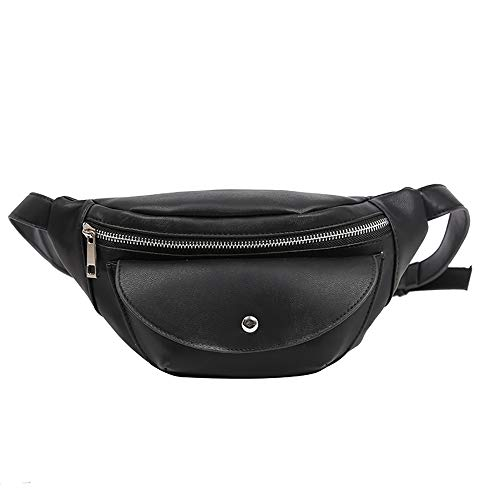 Vielgluck Women PU Leather Crossbody Small Bag with Adjustable Strap Sling Anti-Theft Waist Bag Wallet Lightweight Wristletbag for Travel