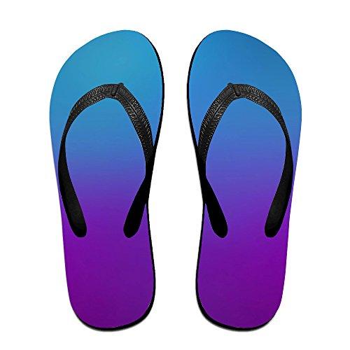 e9b79b598791 chic Blue Purple Gradual Gradient Change Soft Unisex Flip Flops Sandal  Summer Beach Slippers For Women