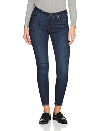 Pieces Jean Skinny Femme Bleu (Dark Blue Denim)