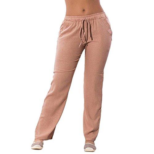 Pantaloni Donna Cravatta Lunga Semplice Chiffon Pantaloni Stoffa Taille Bendare Pants Glamorous Nahen Farfalla Di A Eleganti Trousers Slim Estivi Anteriori Vita Tendenza Tasche Moda Fit Aprikose Elastica txwqWpcfzR