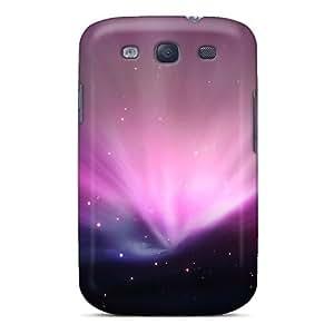 Galaxy Case - Tpu Case Protective For Galaxy S3- Leopard Aurora Purple