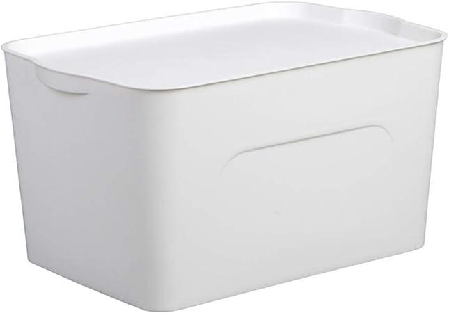 OHGQY Gran Caja De Almacenamiento De Plástico Apilable Caja De Almacenamiento De Color Sólido Caja De Almacenamiento De Juguetes Ropa Caja de almacenaje (Color : White, Size : 45×24.5cm): Amazon.es: Hogar