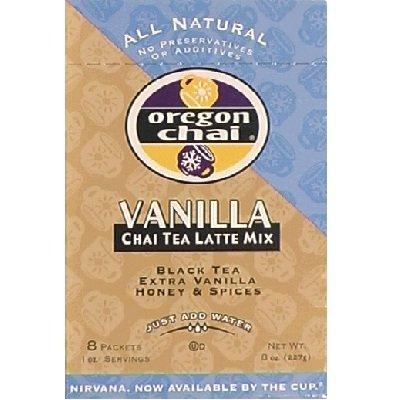 Oregon Chai Dry Mix Vanilla 18x 8 CT by Oregon Chai
