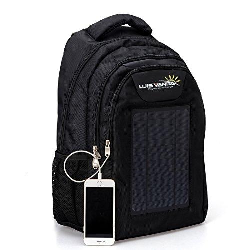 VBag Solar baxkpack Laptop Solar Outdoor Rucksack Tasche schwarz