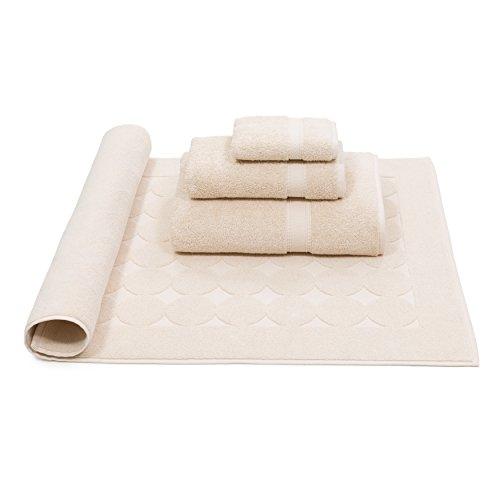 Linum Home Textiles SN10-4CD 4 Piece 100% Turkish Cotton Sinemis Terry Bath Towel, Beige by Linum Home Textiles