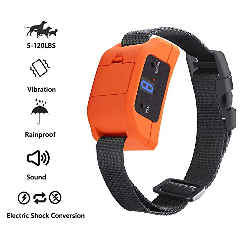 MANGUMEN Anti Bark Collar for Small, Medium, Large Dogs - Dog Bark Shock Collar Device to Stop,Control Barking w/Humane 2019 Newest Automatic ULTRASONIC TECH for 5-120 lbs Breeds