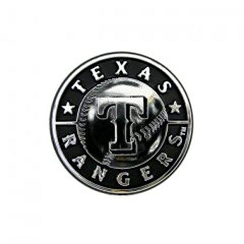 (MLB Texas Rangers Chrome Automobile Emblem)