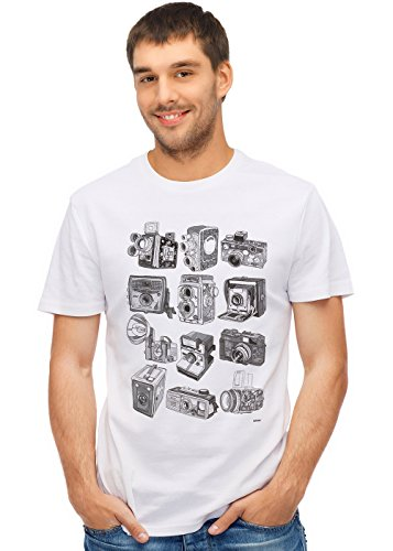 Retreez Classic Old School Camera Collection Graphic Printed TShirt Tee
