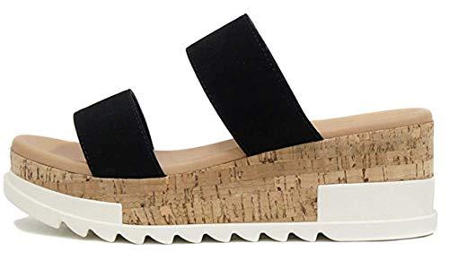 soda cork heels wedges - 2