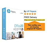 HP Printer Paper Office 20lb, 8.5x 11, 5 Ream Case, 2,500 Total Sheets, Made in USA From Forest Stewardship (FSC) Certified, 92 Bright, Acid Free, Engineered for HP Compatibility, 172160C