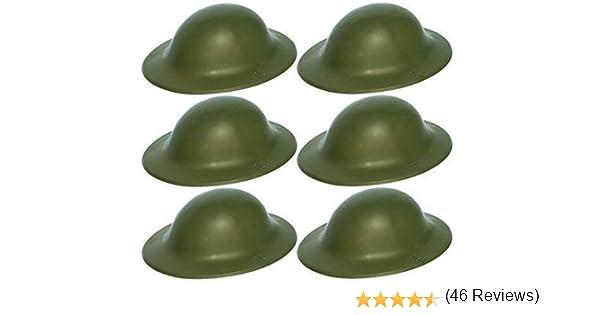 6x Verde Ejército Británico Soldado Casco WWII Guerra Mundial 2 ...