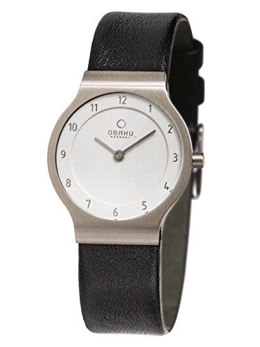 OBAKU Denmark falt Womens Watch with Leather Band and Titan casing V133LTIRB1