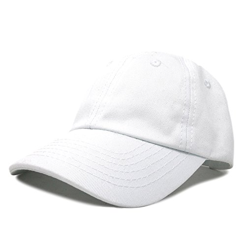 DALIX Infant Baseball Hat Baby Cap Tiny Extra Small Girls Boys in White