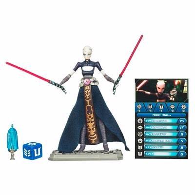 Star Wars 2010 Clone Wars Animated Action Figure CW No. 15 Asajj -