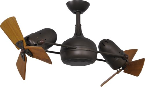 Matthews DG-TB-WD, Dagny Textured Bronze Dual 41 Ceiling Fan with Remote Control
