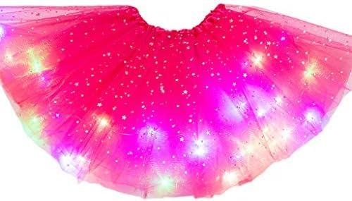 Zhoujinf - Falda de tul para niños y niñas con luz LED con ...
