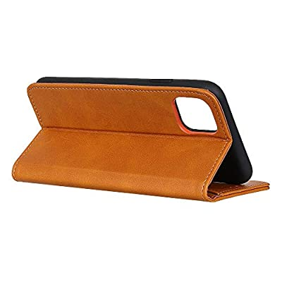 WaiterQA Samsung Galaxy S10e Flip Case Leather Cover Kickstand Wallet case Card Holders Luxury Business Magnetic Button Suitable for Business 2 Card Slot (Brown): Toys & Games