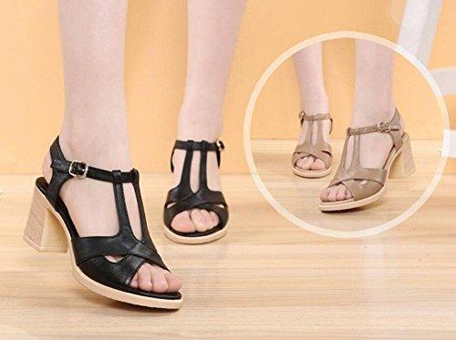 L@YC Sandales Femme Sandales Femme Sandales à Talons Hauts Chaussures Femme Sandales Confortables , black , 40
