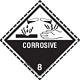 Labelmaster HML13D Corrosive Worded Label with