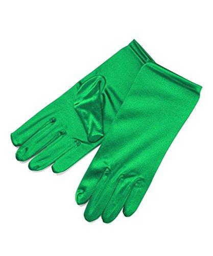 (Ru Sweet Shiny Stretch Satin Dress Gloves Wrist Length)