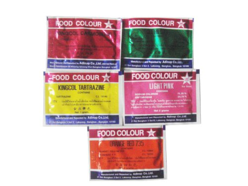 Amazon.com : Food Coloring Powder 5 Colors Pack of 25 : Other ...