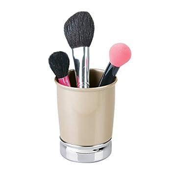 mDesign Vaso para cepillo de dientes- Ideal como porta cepillos o como organizador de cosmética para delineadores, brochas de maquillaje y demás: Amazon.es: ...