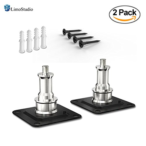 "LimoStudio [2-Pack] Wall and Ceiling Mount with 5/8"" Stud and 1/4'' Thread with Screws for Photo Studio and Video Shooting, AGG2740 by LimoStudio"