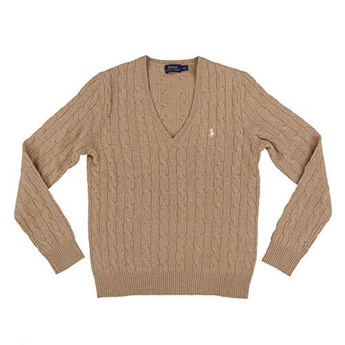 Polo Ralph Lauren Womens Wool Sweater (Large, Tan)