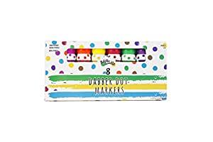 Dabber Dot Markers (8 Vibrant Colors) – Promotes Creativity and Early Childhood Learning – Ages 3+