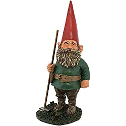 Sunnydaze Garden Gnome Woody Jr. The Classic Lawn Statue, Outdoor Yard Decor, 13.5 Inch Tall
