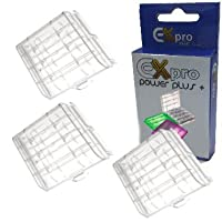 Ex-Pro AA/AAA Battery Case Tough Store Storage - Clear (Pack of 3)