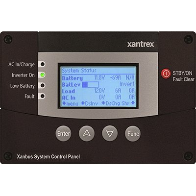 (Xantrex 809-0921 Freedom SW Xanbus System Control Panel (SCP) For use with Freedom SW 2012 (815-2012) & Freedom SW 3012 (815-3012) Inverter/Chargers, Graphical 128x64 pixel LCD display)