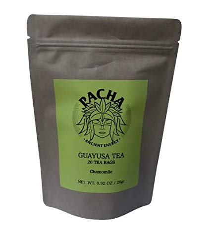 PACHA Ancient Energy GUAYUSA 20 Tea Bags (Chamomile, Small Pack)