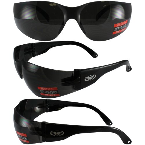 Global Vision Eyewear Rider Safety Glasses, Super Dark Lens ()
